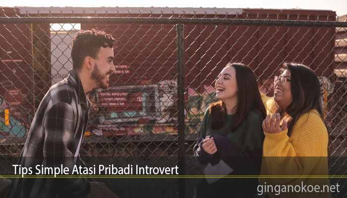 Tips Simple Atasi Pribadi Introvert